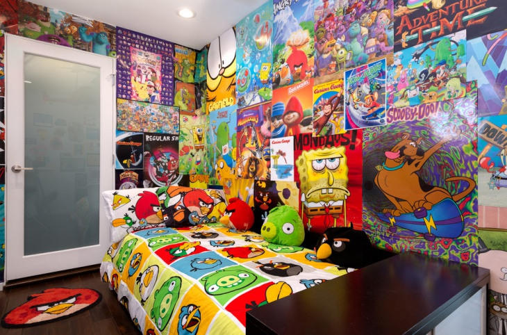 Colorful Kids Bedroom Wall Art