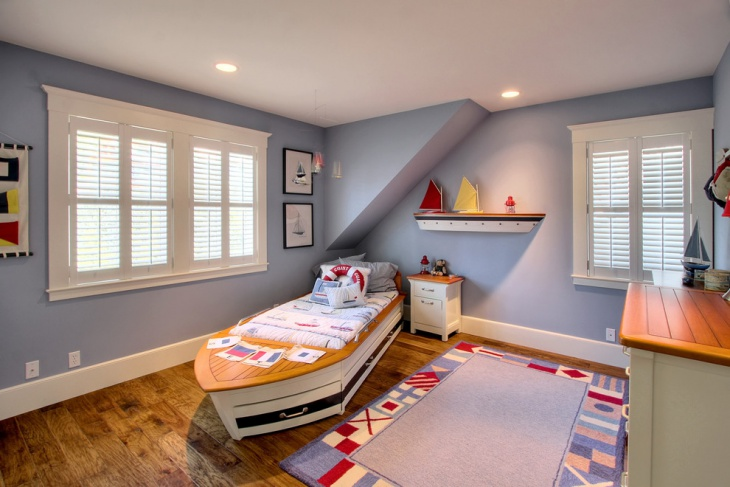 Boat Style Kids Bedroom Wall Design