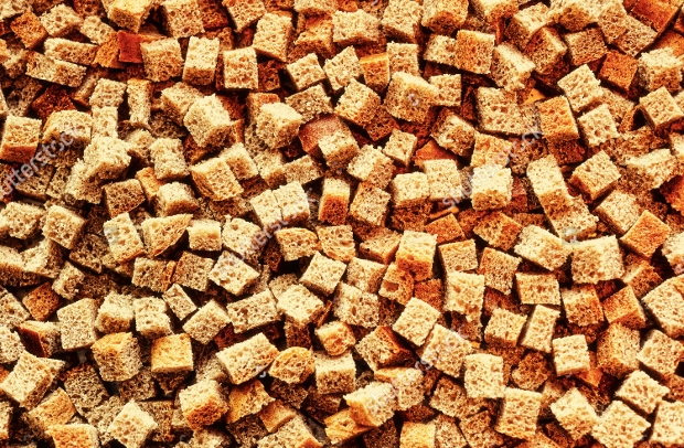 small pieces dried bread texture