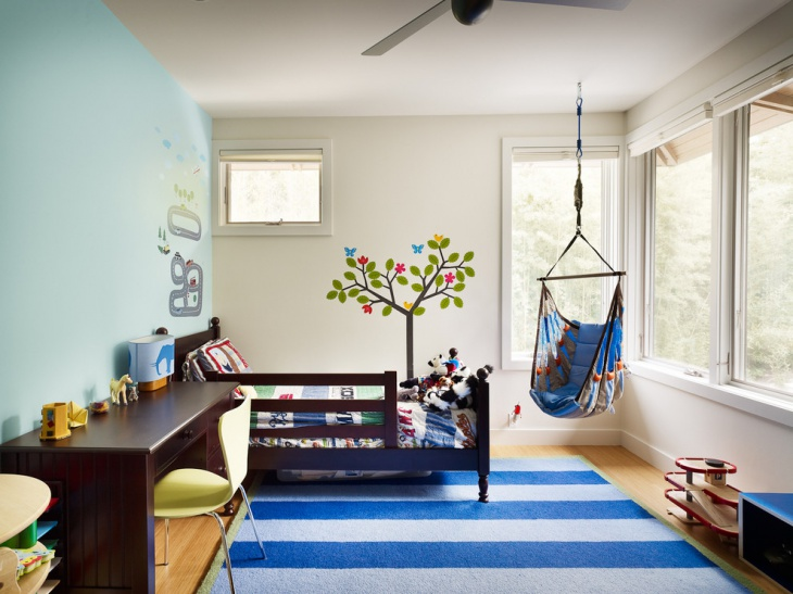 Tree Wall Kids Bedroom Idea