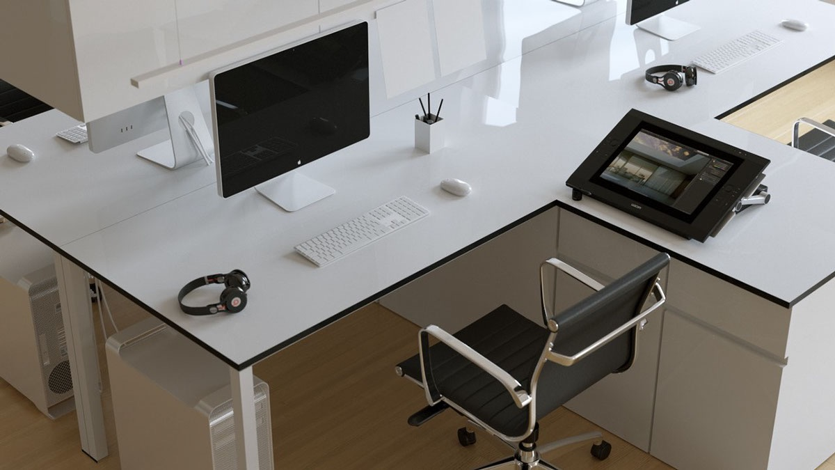 17+ Minimalist Computer Desk Designs, Ideas | Design Trends ...