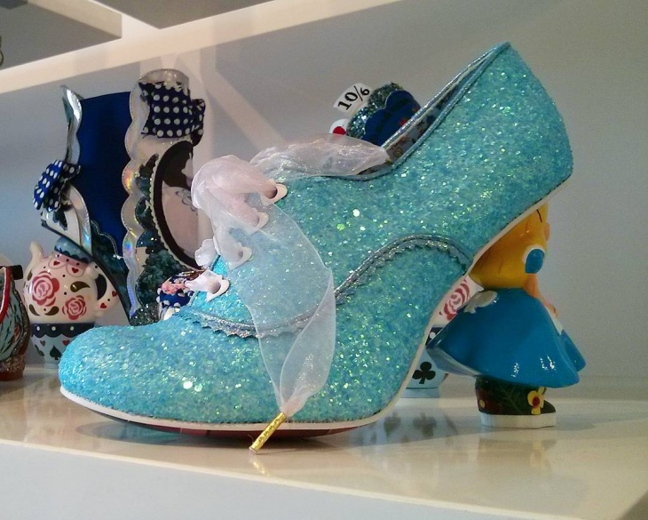 Blue Glitter Fantasy Shoes