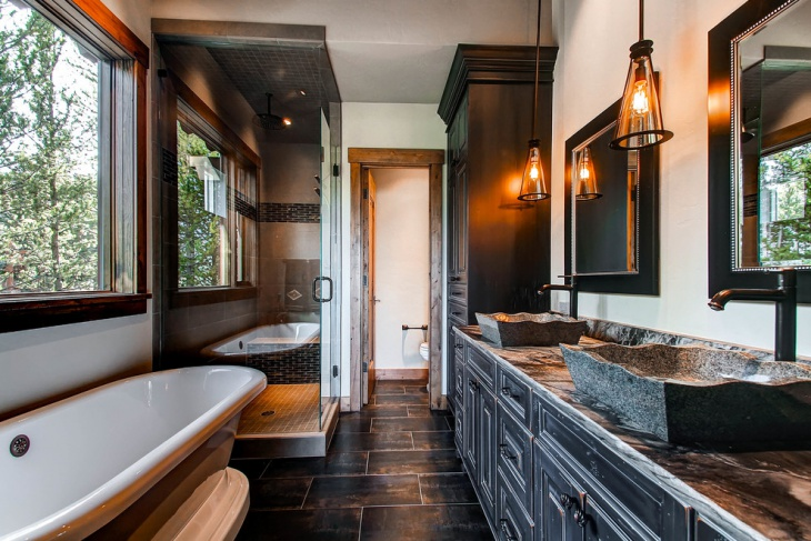 rustic bathroom pendant light