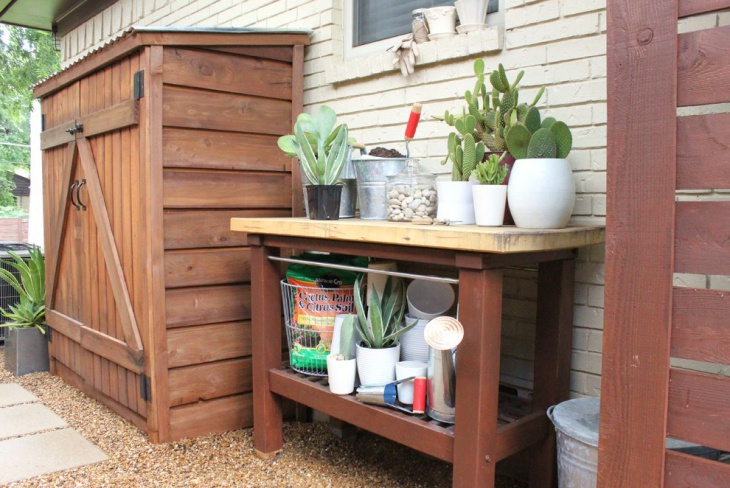 15 garden potting table designs ideas design trends - Potting table with storage ...