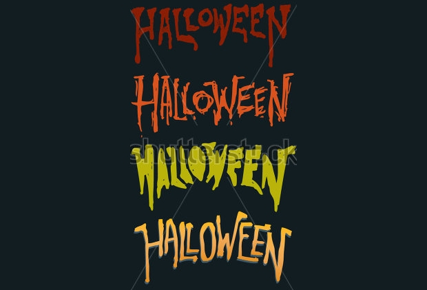 Scary Grunge Halloween Text Font
