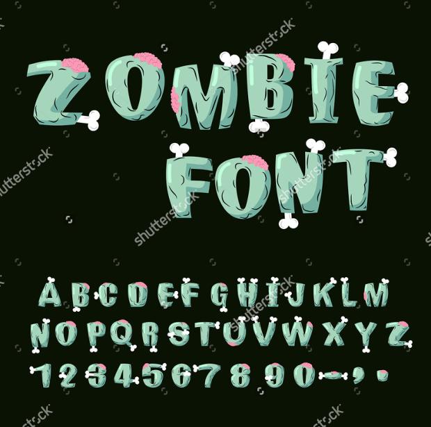 horror zombie font