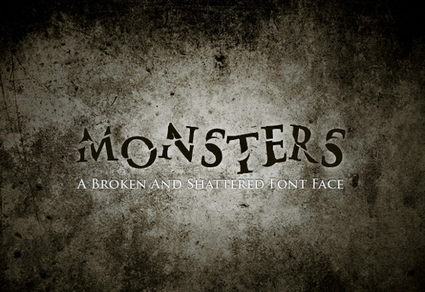 Scary Monster Font