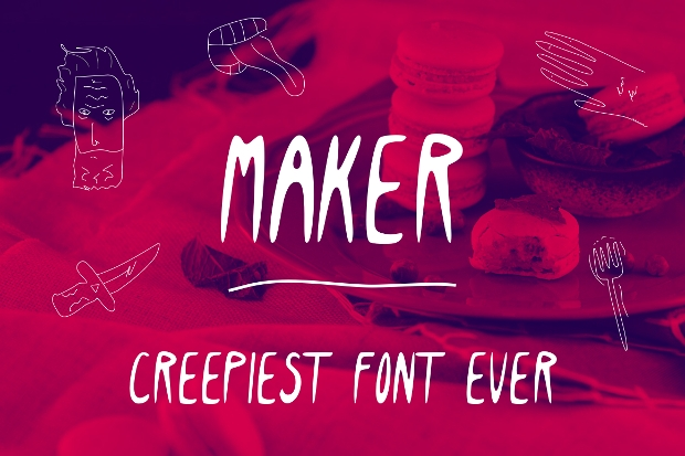 Maker Creepy Font