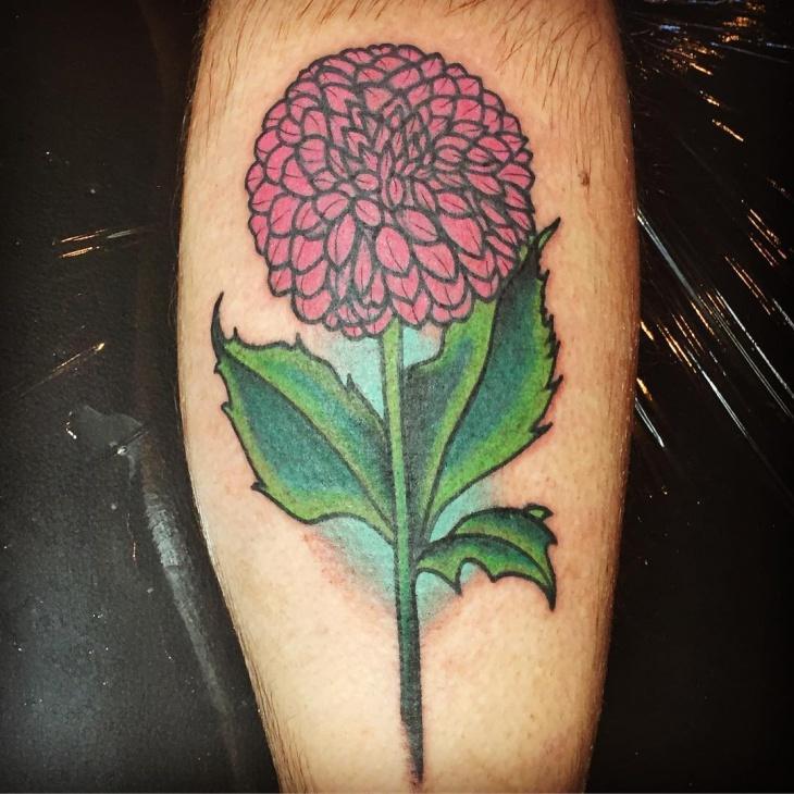 realistic dahlia tattoo design