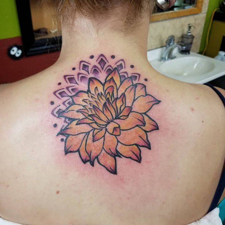 sacred dahlia tattoo for women