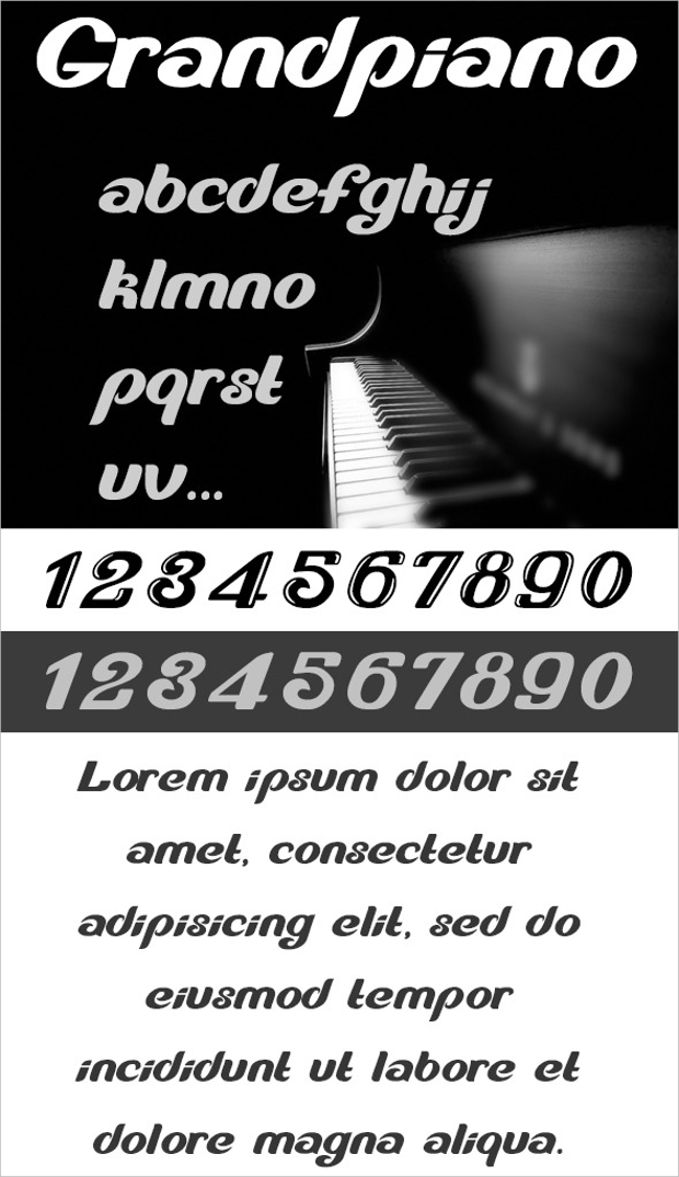 Grand Artistic Piano Font