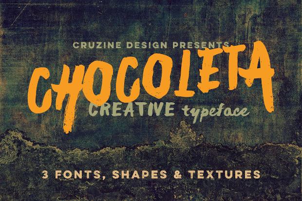 grunge artistic font