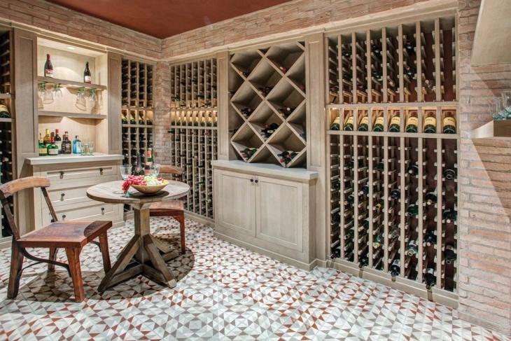 geometric floor tiles design