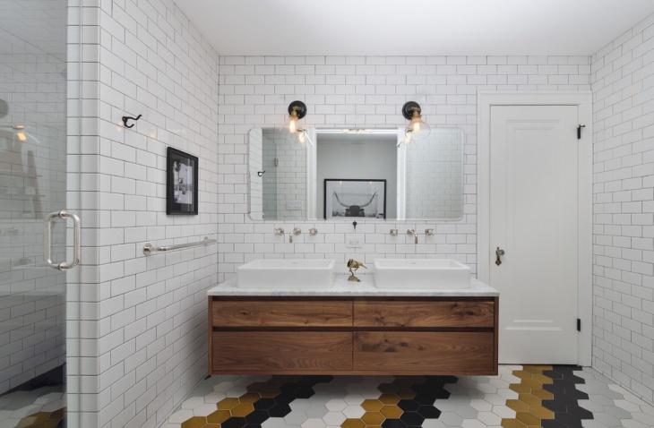 traditional geometric floor tiles