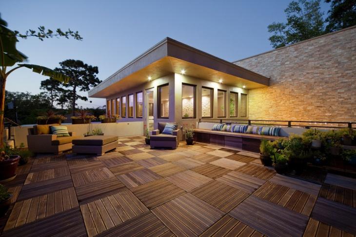 exterior geometric floor tiles