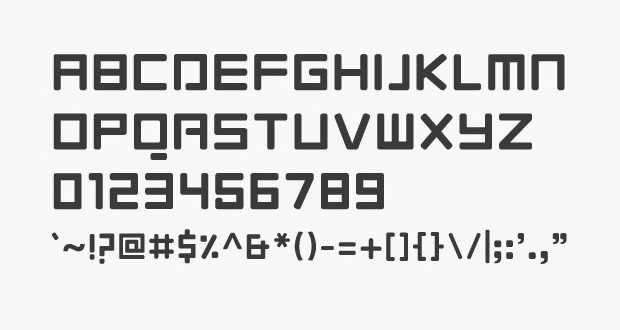 Modern Equilibrium Font