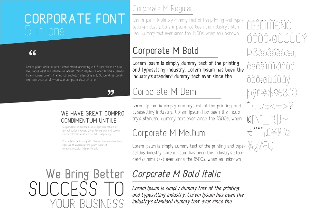 Professional Business Fonts