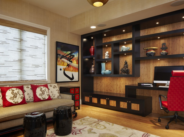 wooden wall black unit design