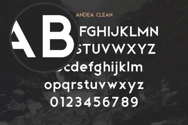 Andea Geometric Font