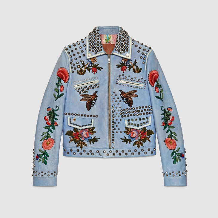 1. Embroidered leather jacket - $7980