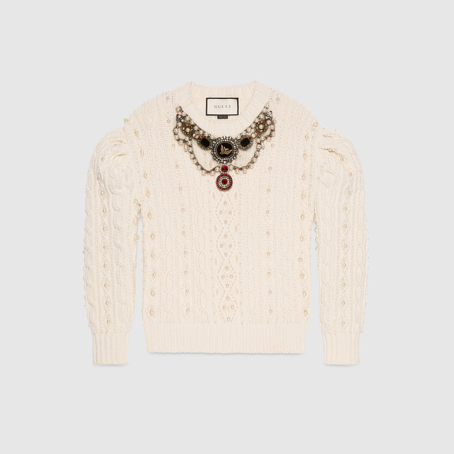 4. Embroidered Wool Cashmere Top- $4800