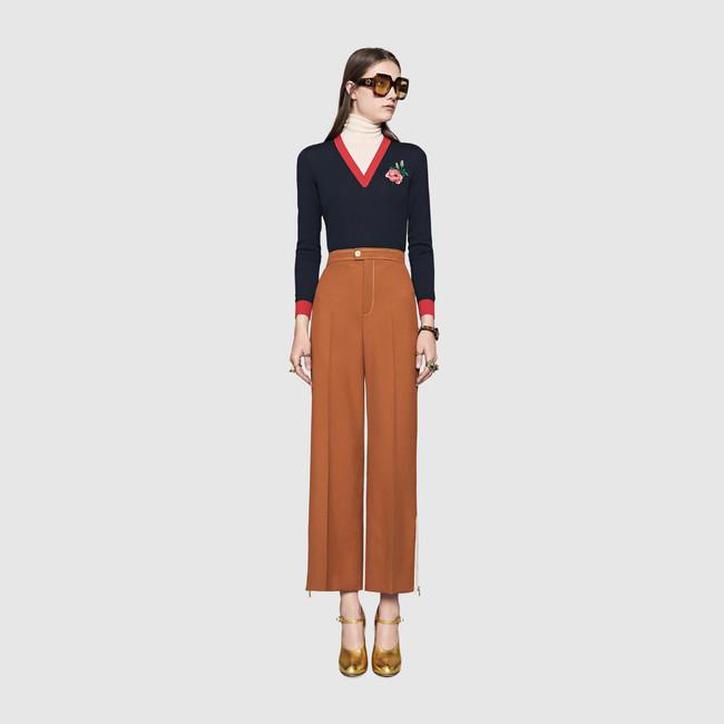 9. Cropped Wool Pant- $ 1,300
