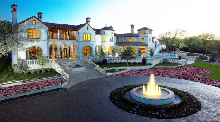 exterior fountain elevation idea