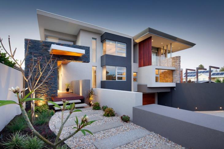 traditional exterior elevation design