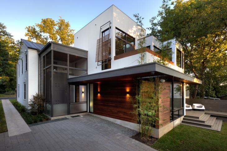 backside exterior elevation
