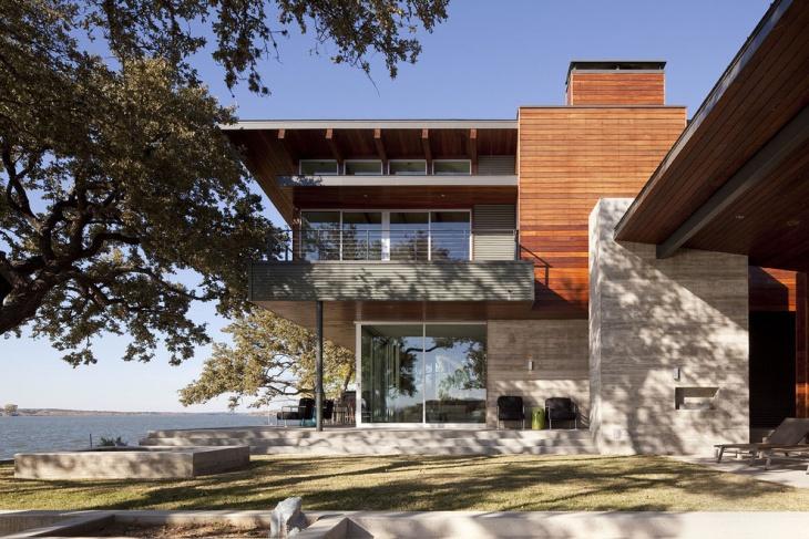 modern wood exterior elevation