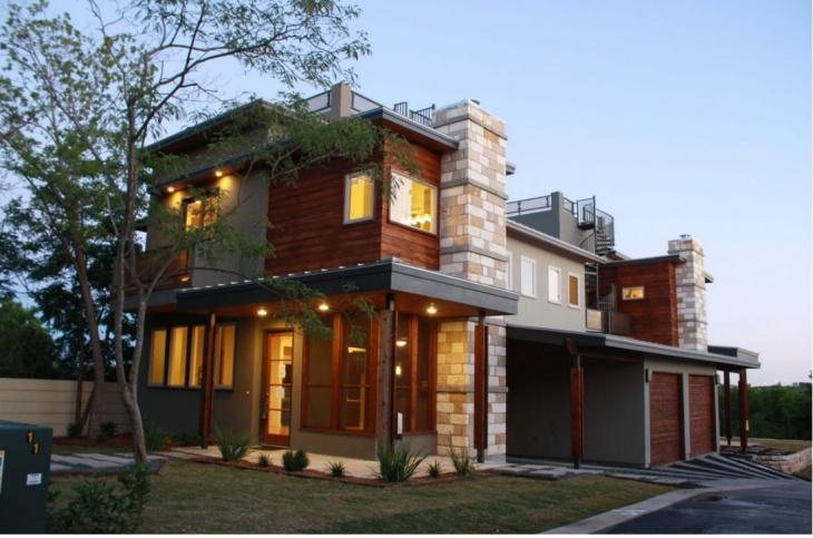exterior duplex elevation