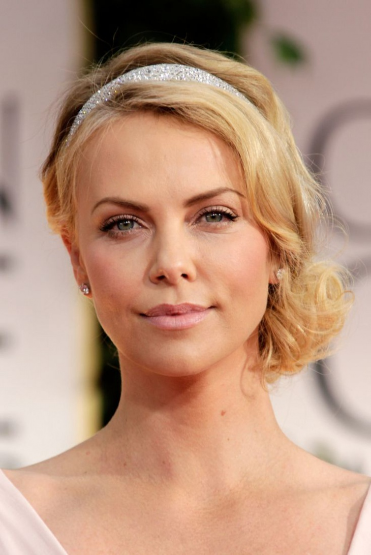 Charlize Theron Flapper Hairstyle with Headband