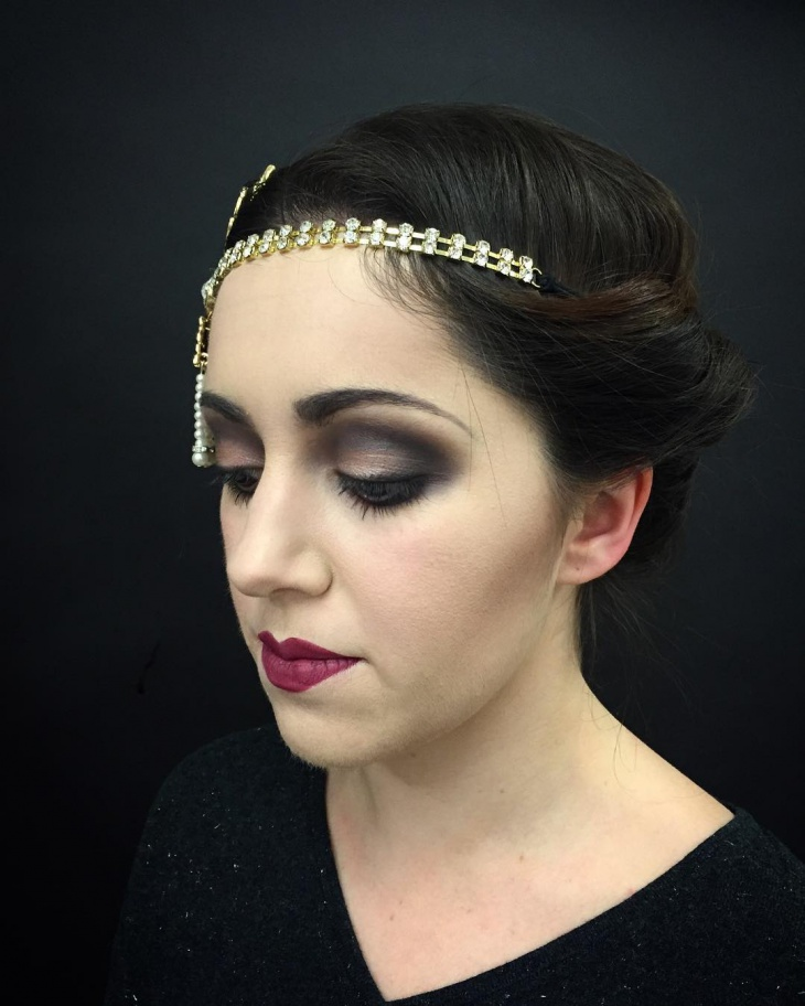 Flapper Hairstyle for Wedding