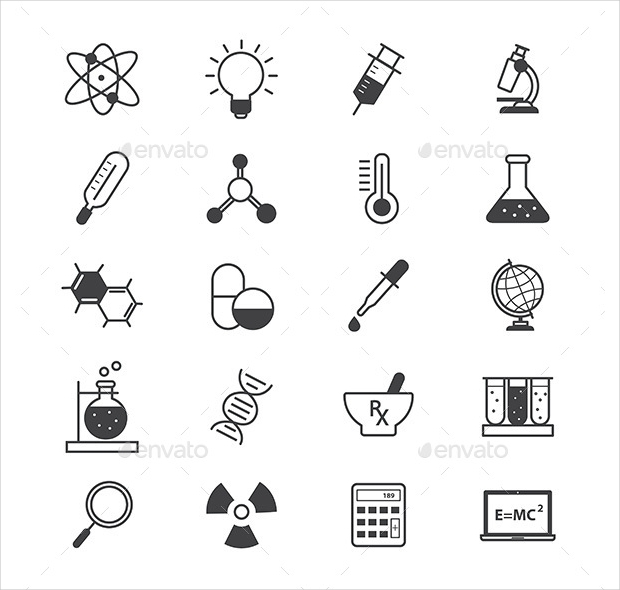 Science and Medical Line Icons