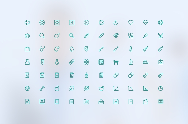 Thin Outline Medical Icons