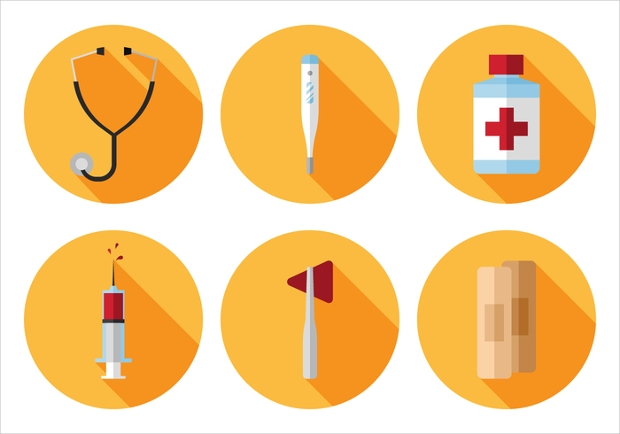 Simple Round Medical Icons