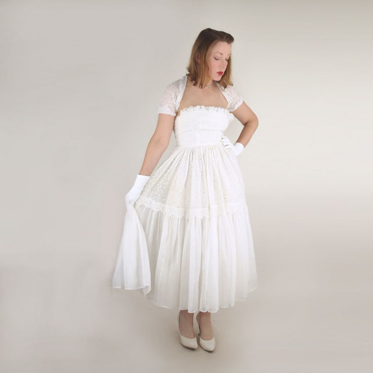 vintage organdy dress