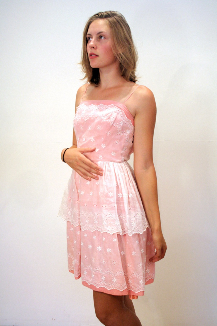 simple organdy cocktail dress