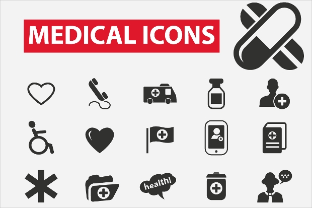 black medical icons