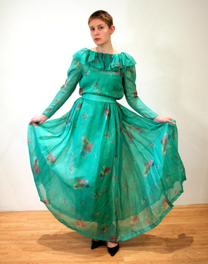 chiffon organdy gown idea