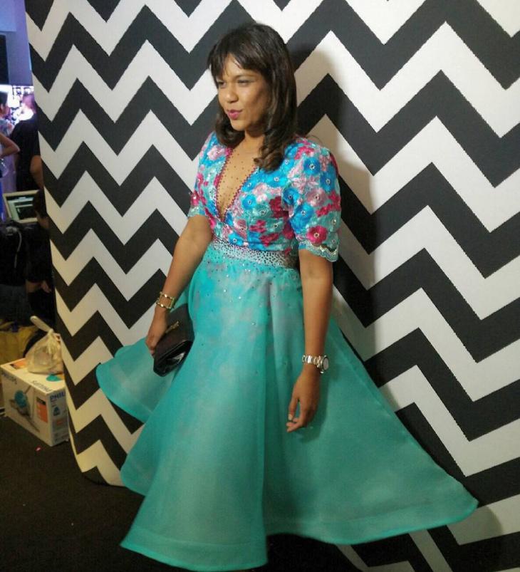 blue organdy lace dress