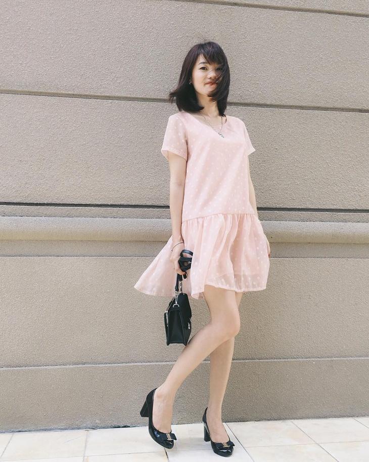 organza mini dress design