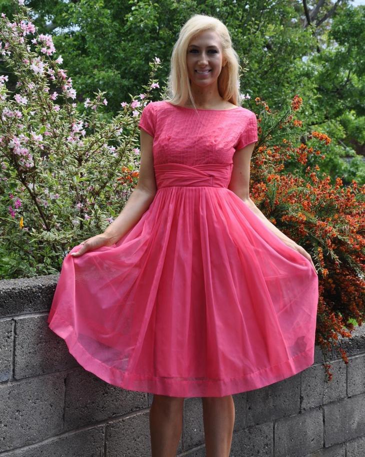 retro style organdy dress