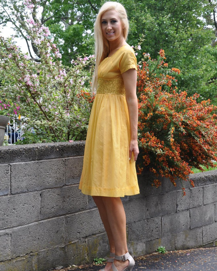 Yellow Organdy Outfit Idea