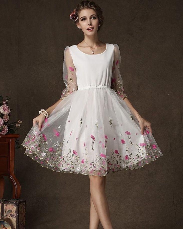 gorgeous organza outfit