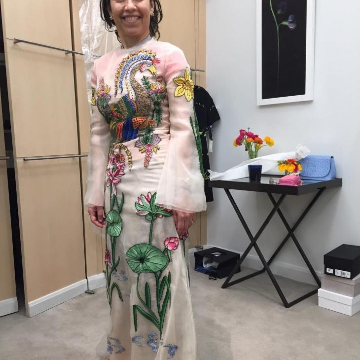 gucci organda dress design