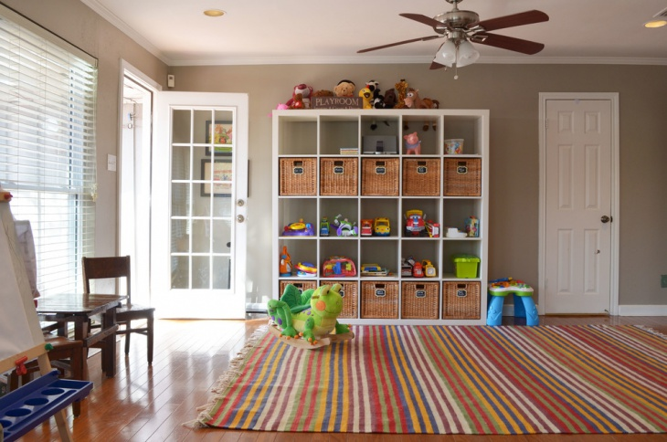 Toddler Playroom Storage Idea