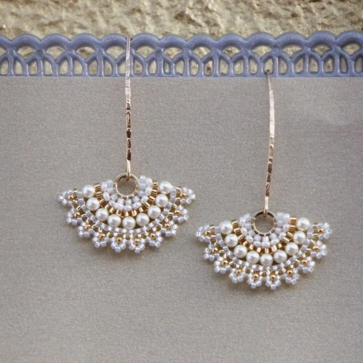 Beaded Earrings for Wedding