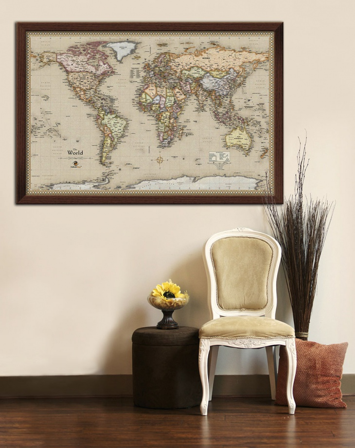 hang a map