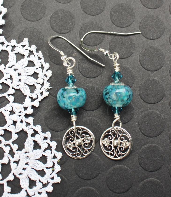 Turquoise Bead Earrings Idea